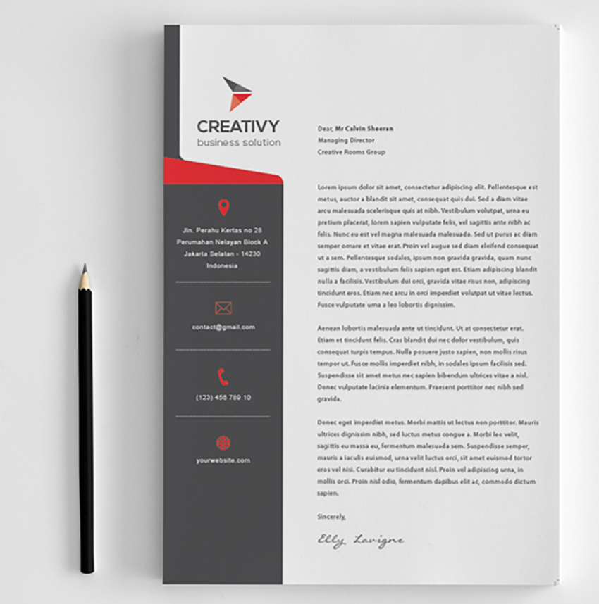 25 professional modern letterhead templates modern corporate letterhead spiritdancerdesigns Choice Image