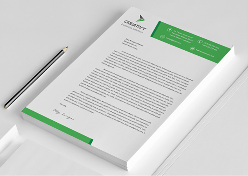 25 professional modern letterhead templates the letterhead flashek Image collections