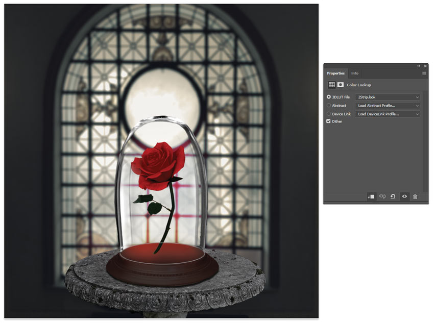 Adjust the rose color with color lookup