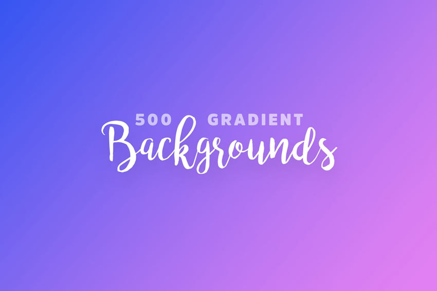500 Gradient Backgrounds