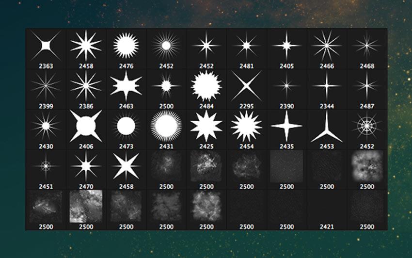 45 Star  Starfield Brushes