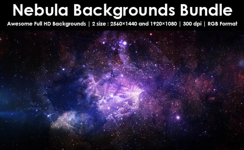 Nebula Backgrounds Bundle