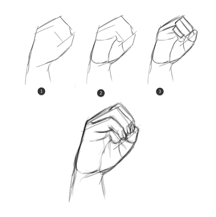 Draw the O Hand From the ASL Alphabet