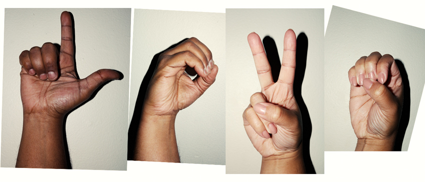 Hand References for ASL Alphabet