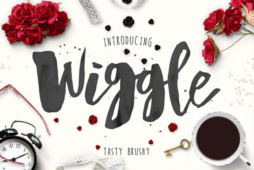 Wiggle Watercolor Brush Script