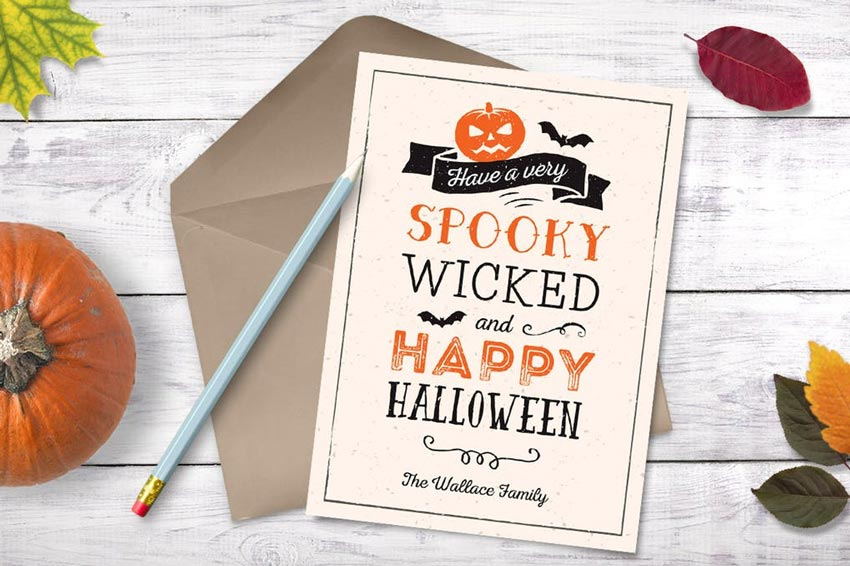 Halloween Greeting Photocard