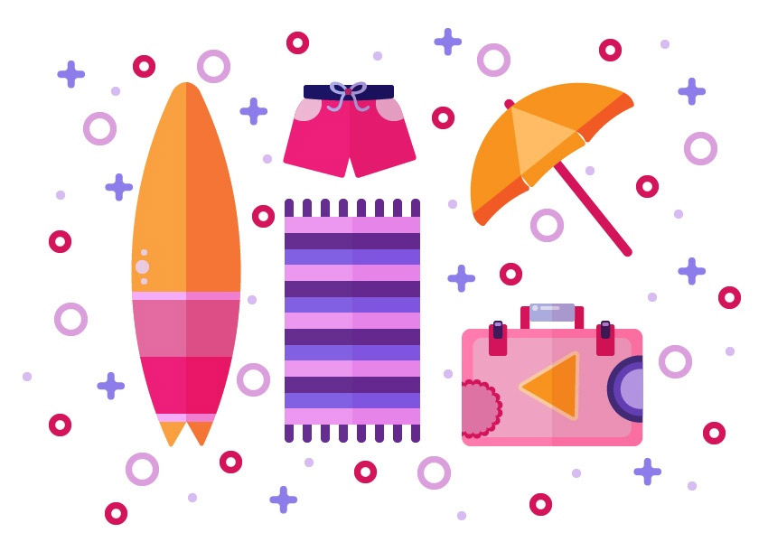 Flat Design Summer Illustration Tutorial