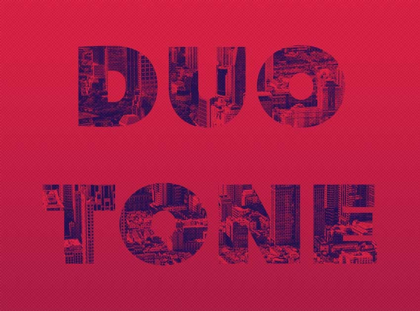 Duotone Text Effect