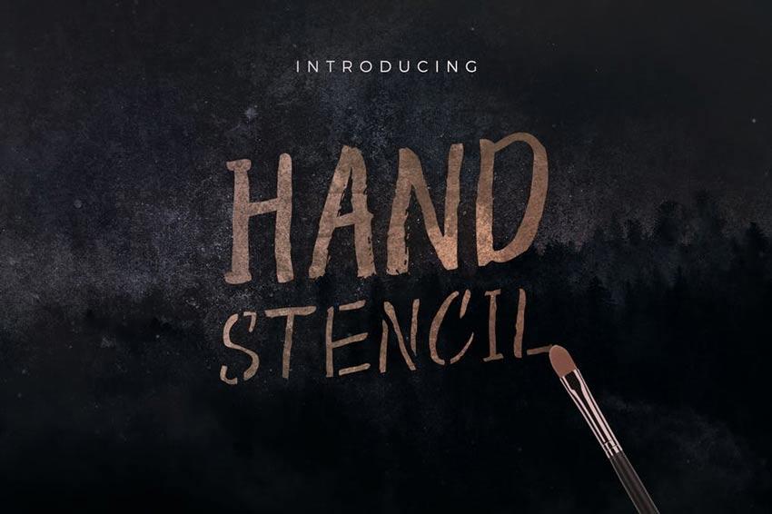 Hand Stencil Font