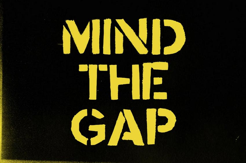 Mind the Gap Typeface