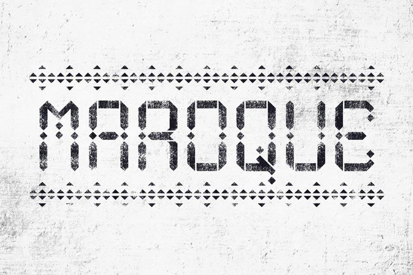 Maroque Stencil