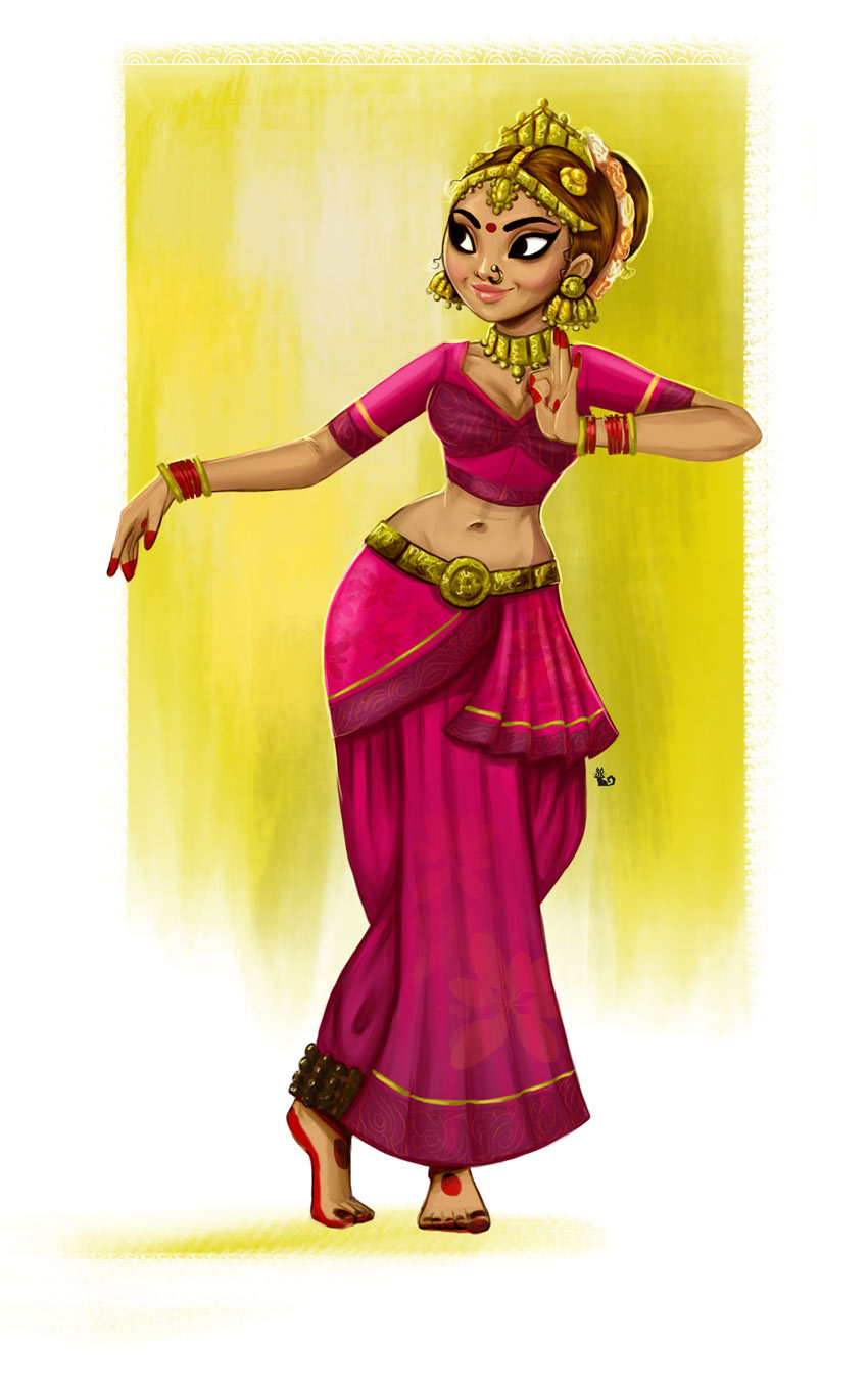 Indian Dancer by Abeer Kasiri