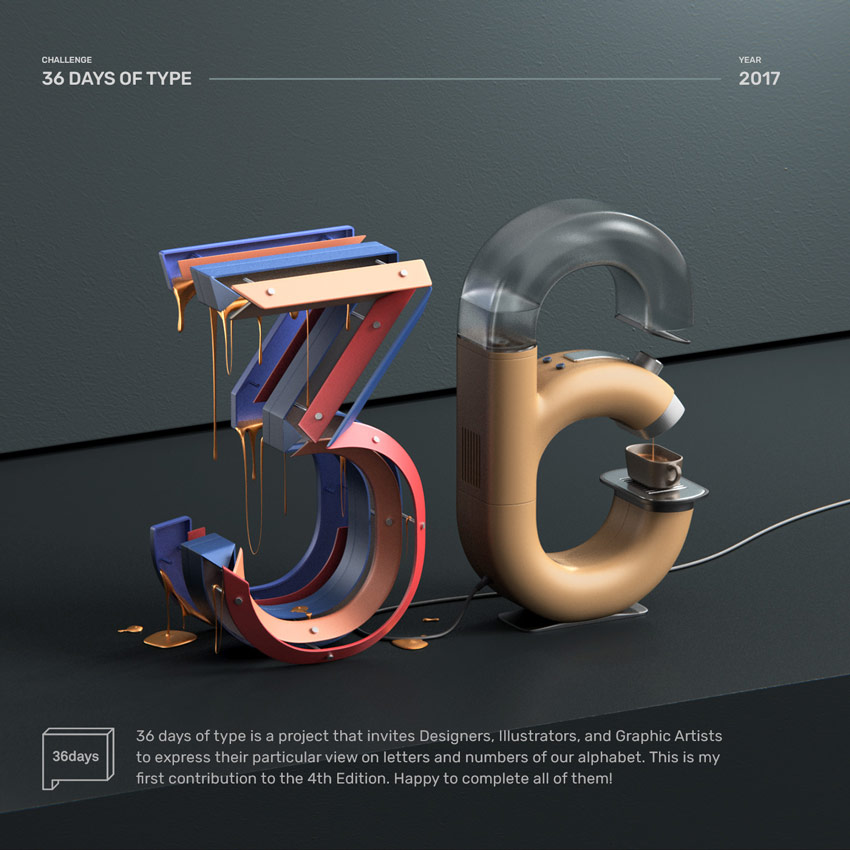 36 Days of Type  by Alper Dostal