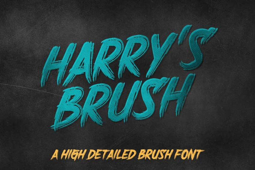 Harrys Brush Font