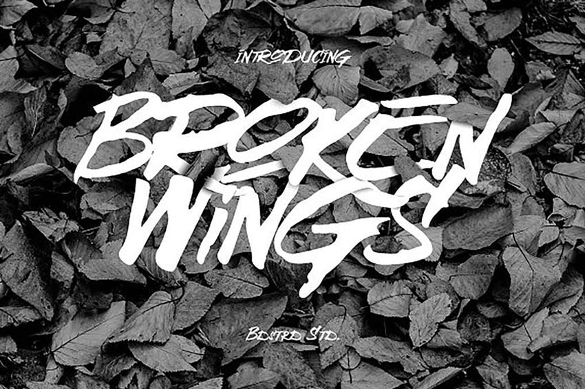 Broken Wings Font