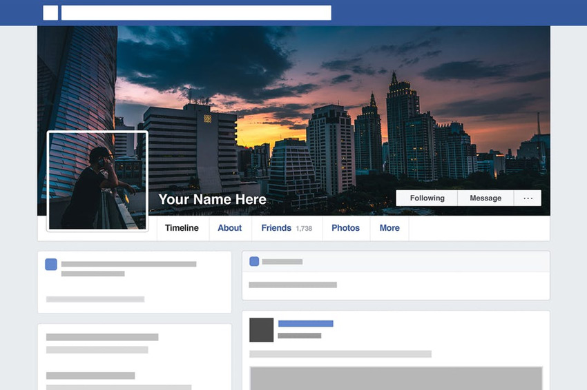Facebook Seamless Template HD