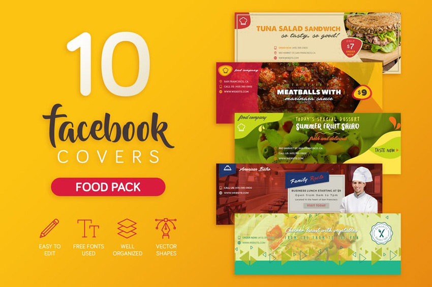24 Awesome Facebook Templates