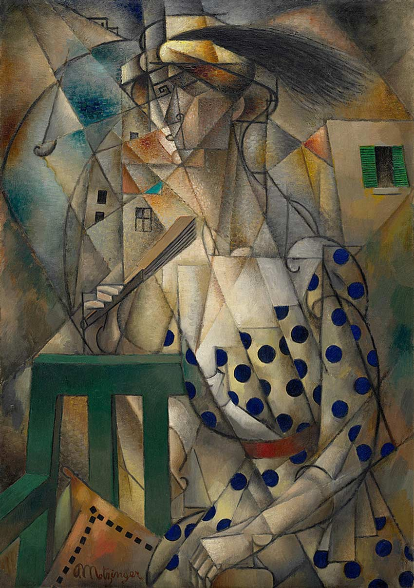 Woman with a Fan by Jean Metzinger