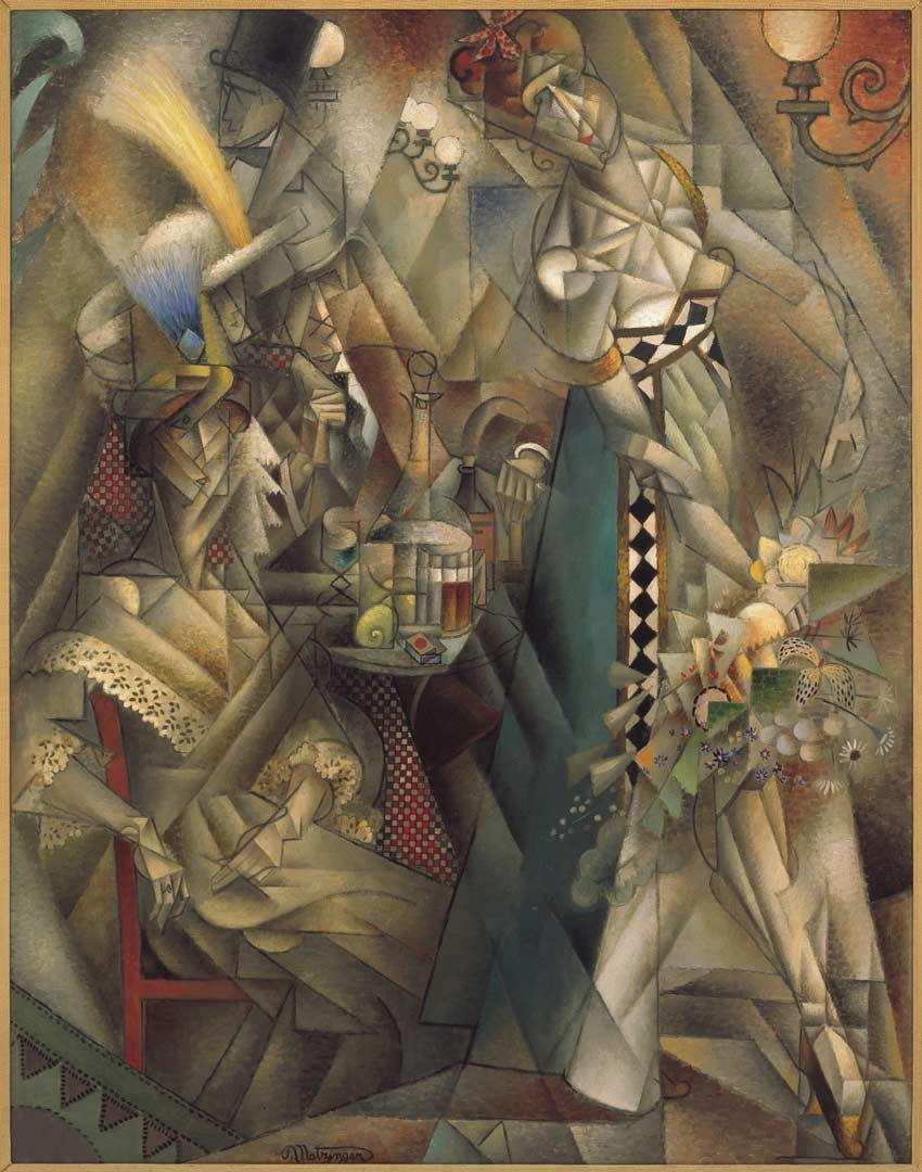 Dancer in a caf by Jean Metzinger