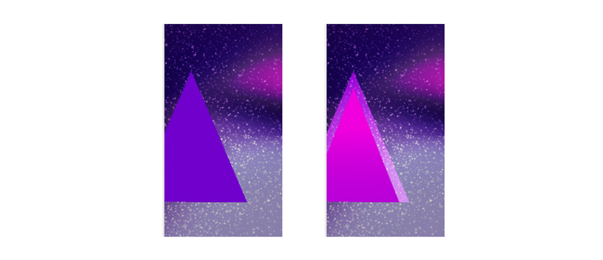 Create a triangle effect