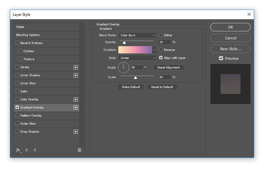 Add a pastel gradient overlay