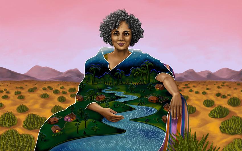 Arundhati Roy by Shyama Golden