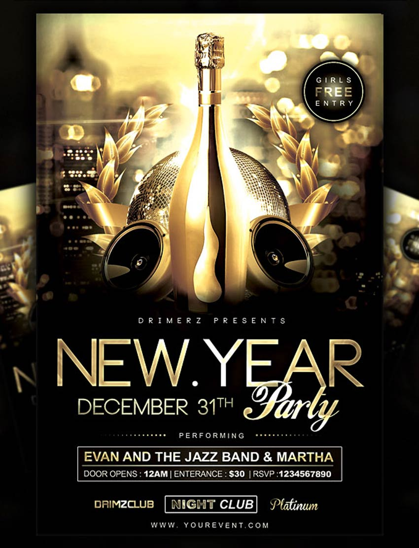 30 best new year s eve flyers and invitations