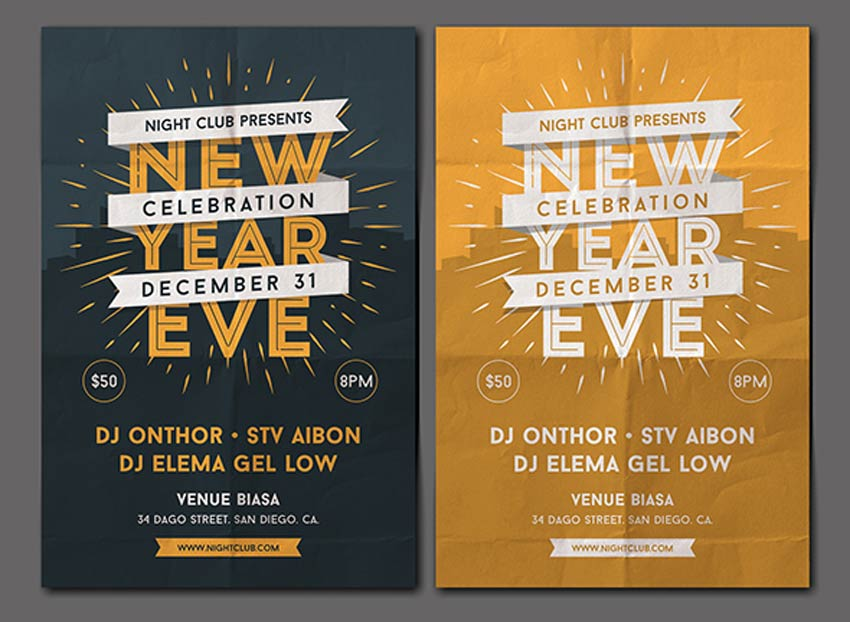30 Best New Year's Eve Flyers and Invitations