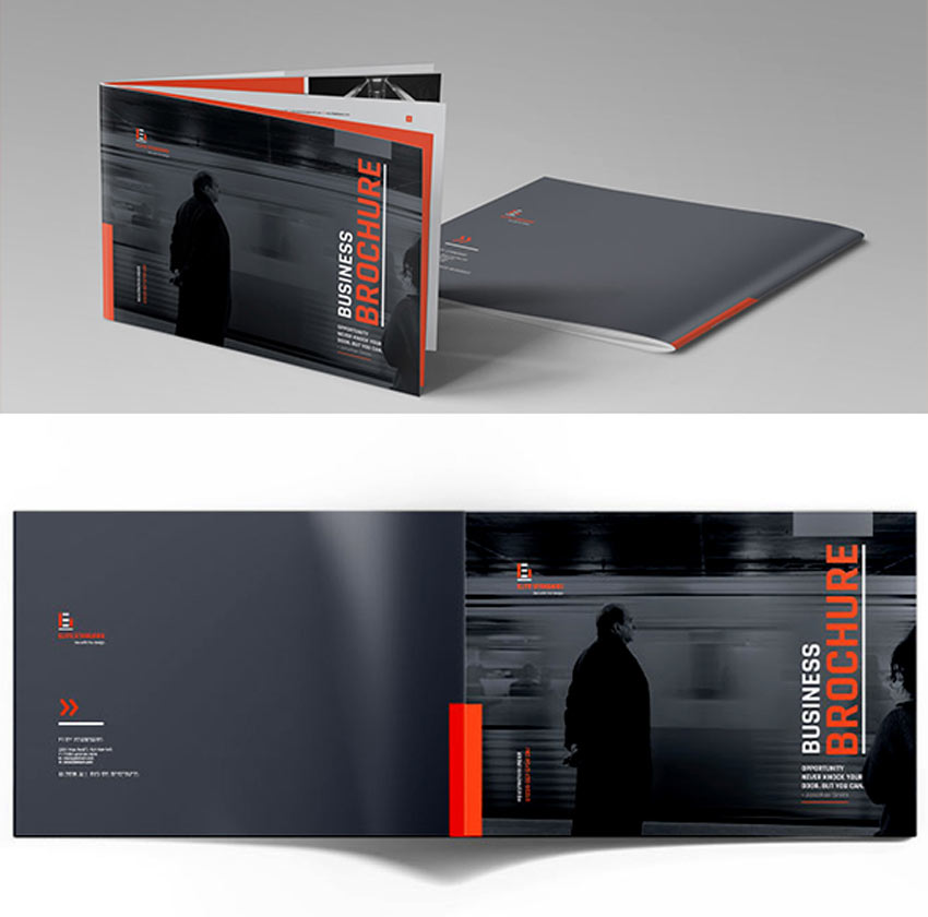 Dark Brochure Template
