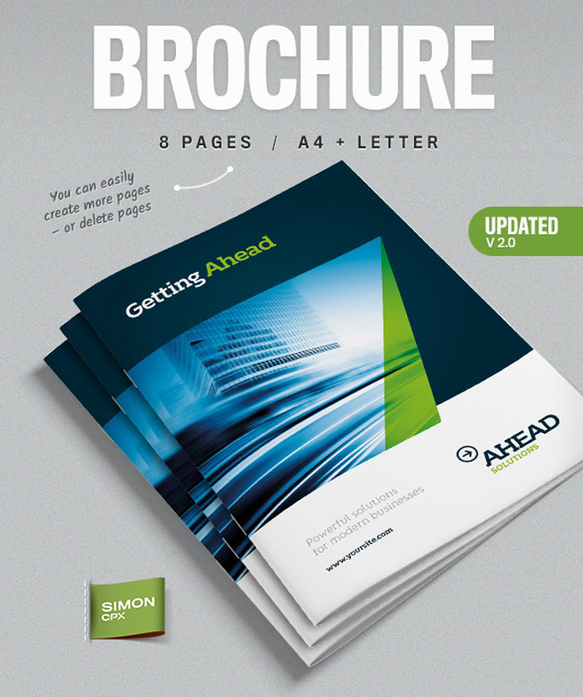 31 premium brochure templates booklets and tri folds for Professional brochure design templates