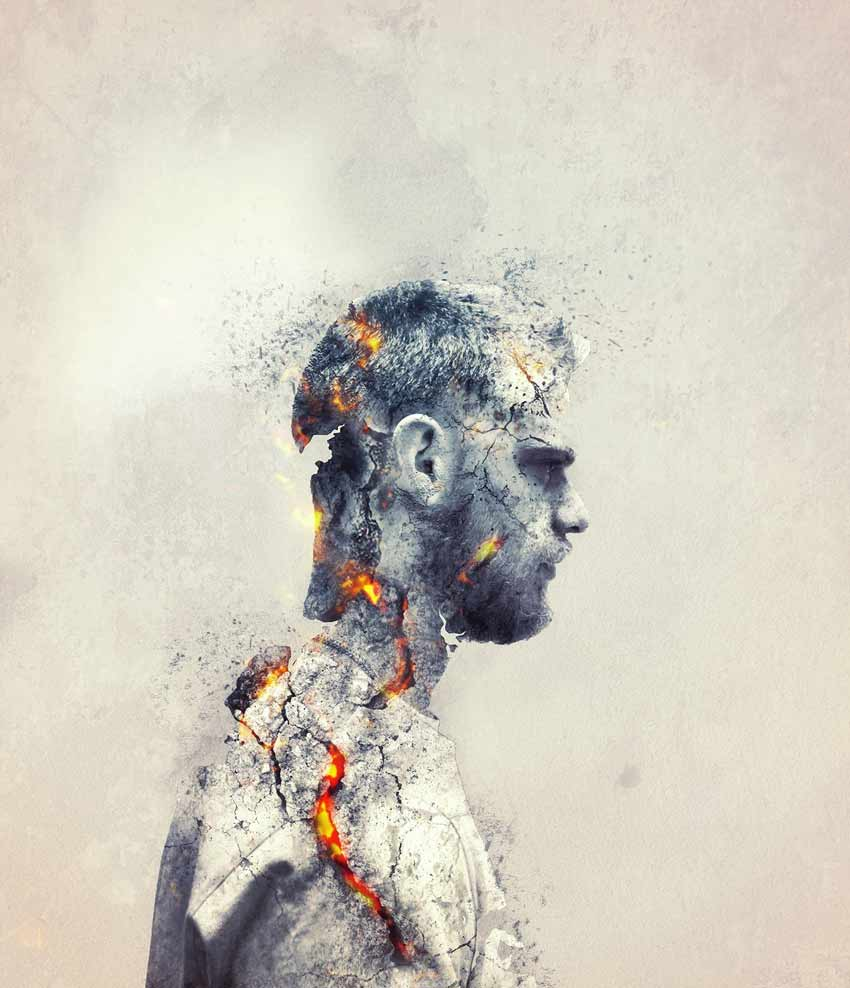 Create an Emotional Molten Shattered Statue in Photoshop