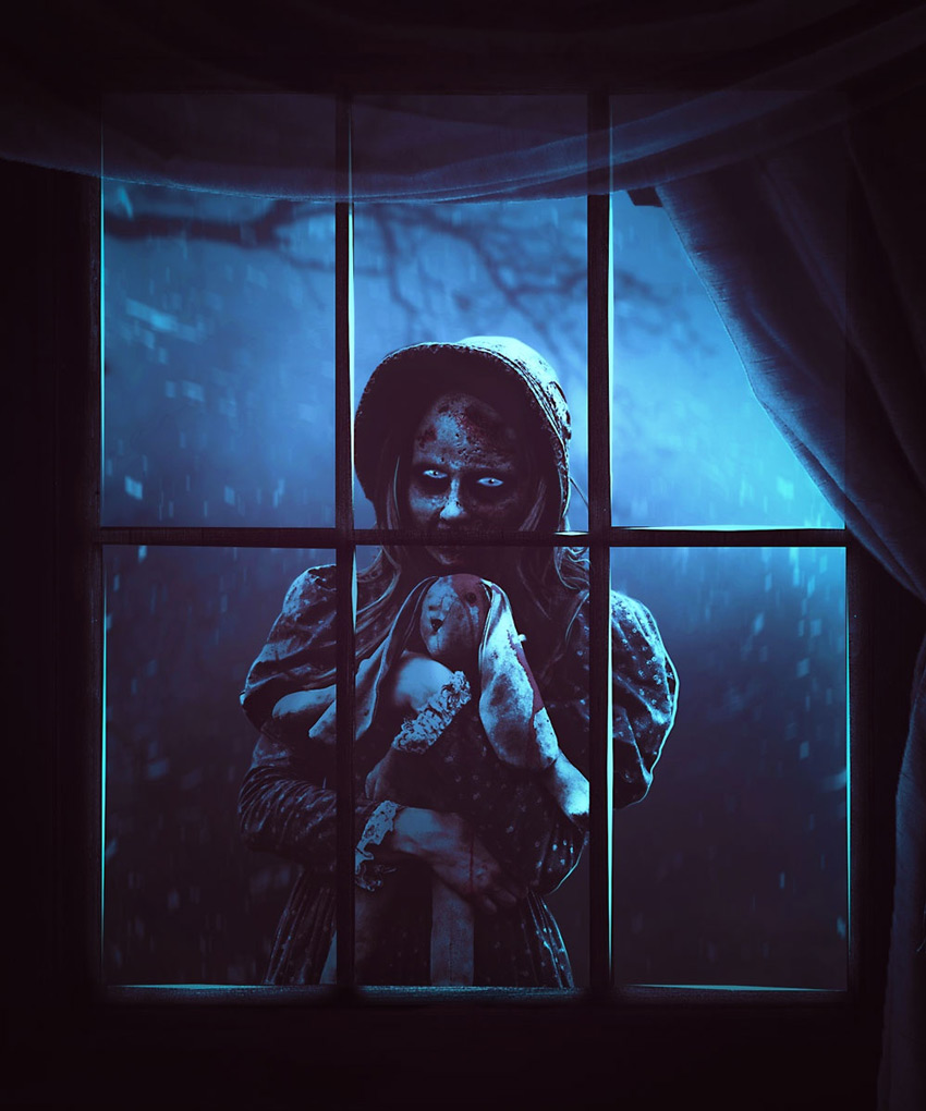 Create a Scary Window Scene Photo Manipulation With Adobe Photoshop