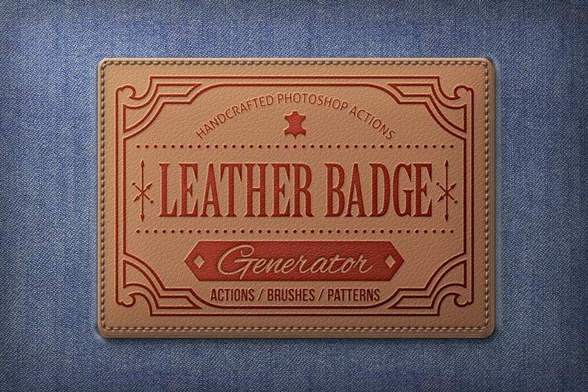 Leather Badge Generator