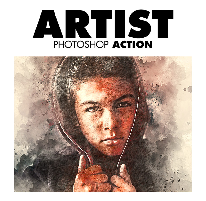 Artist Photoshop Action