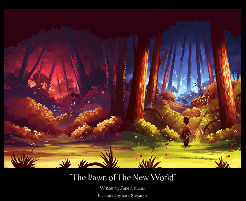 The Dawn of The New World Childrens Book illustrations by Boris Stoyanov