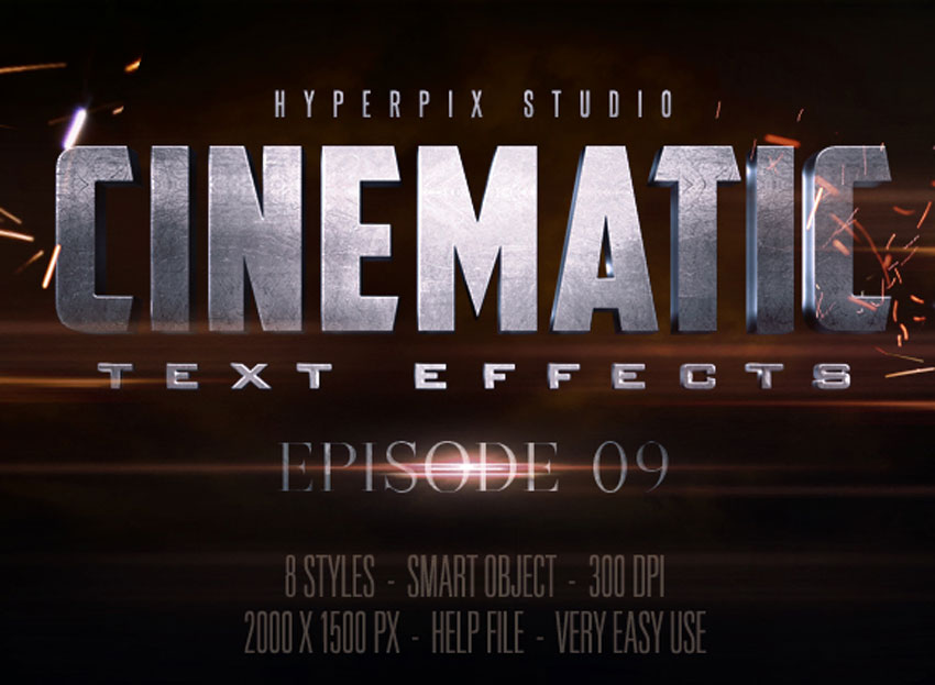 Cinematic 3D Title Text Effects Vol 9