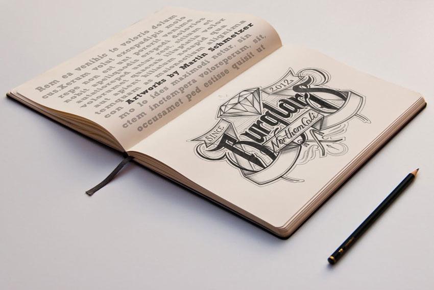 Hand Lettering Sketch Mockup