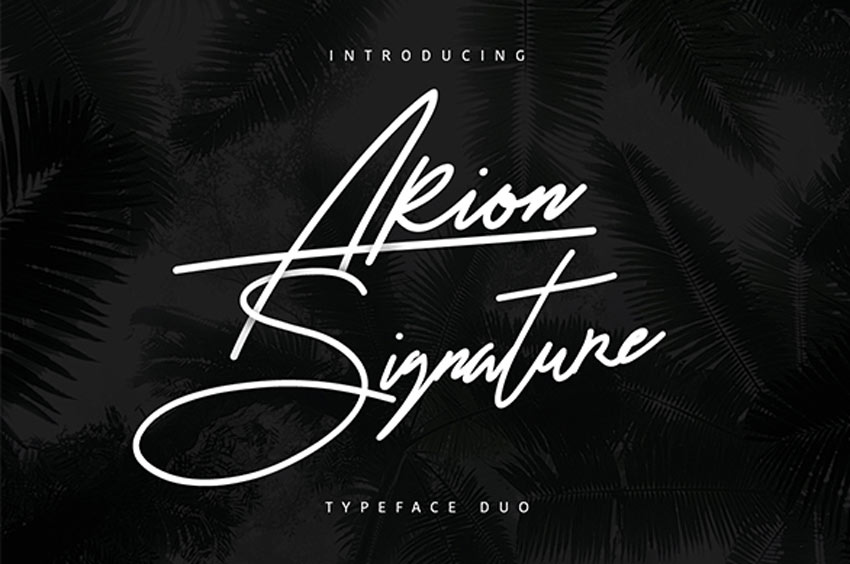 Arion Signature Typeface