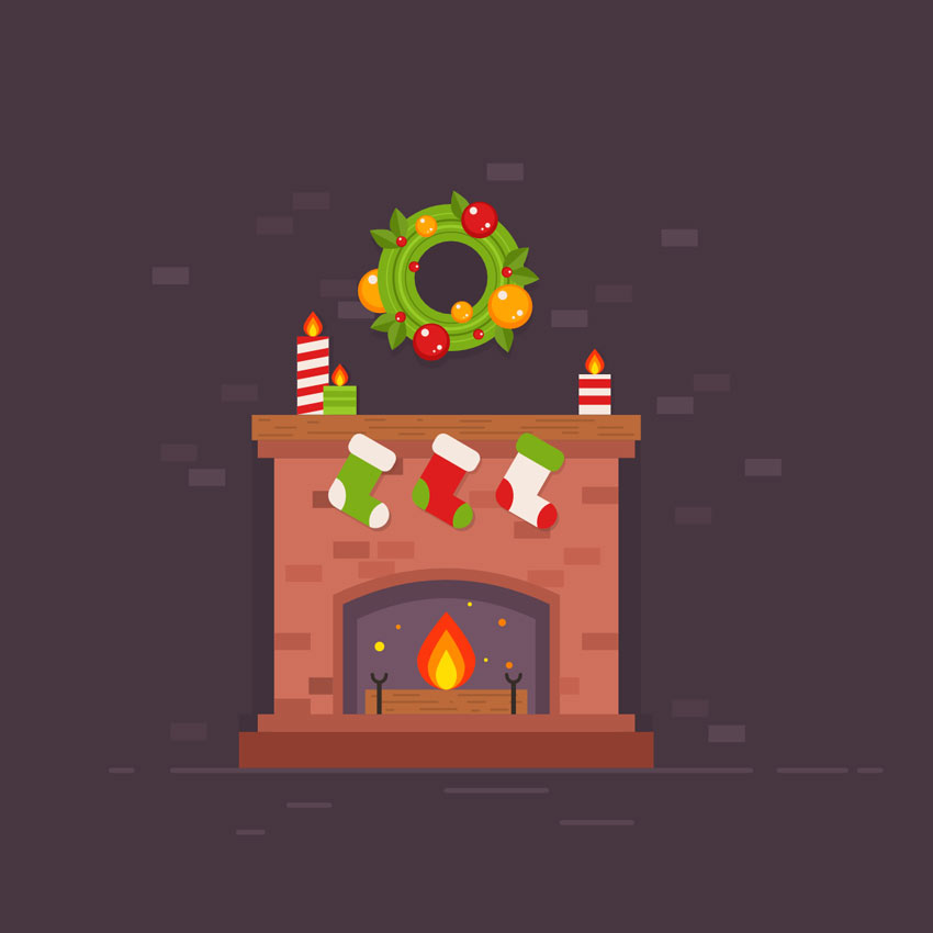 How to Create a Festive Christmas Fireplace in Affinity Designer