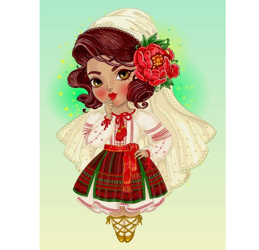Create a Cute Moldovan Chibi Character in Adobe Illustrator
