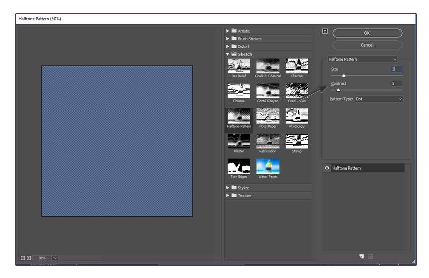 Halftone Pattern Filter