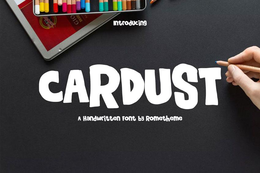 Cardust - Handwritten Font