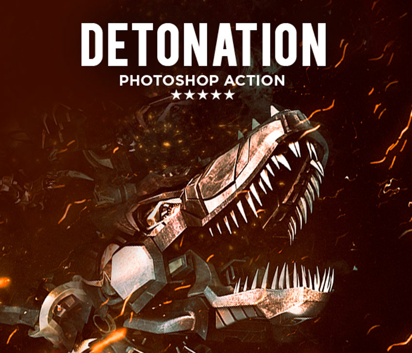 Detonation Photoshop Action