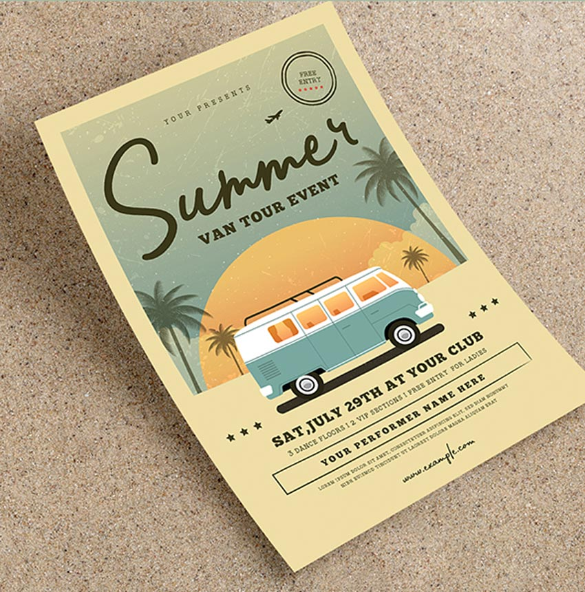 Vintage Summer Event Flyer