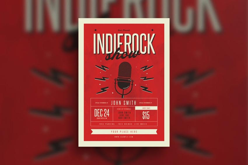 Indierock Event flyer