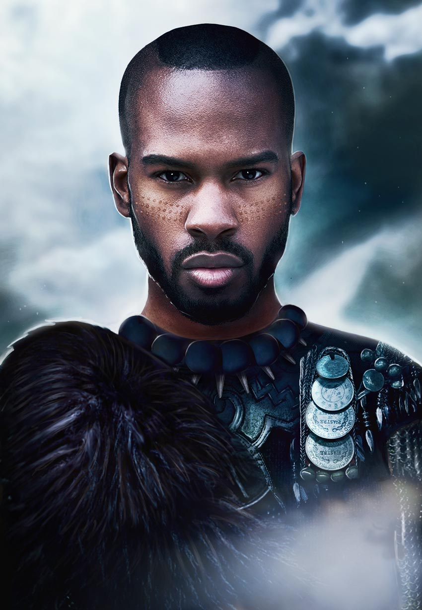 Black Panther Poster Photo Manipulation Photoshop Tutorial