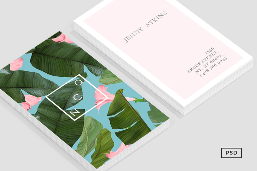 wild flower business card template