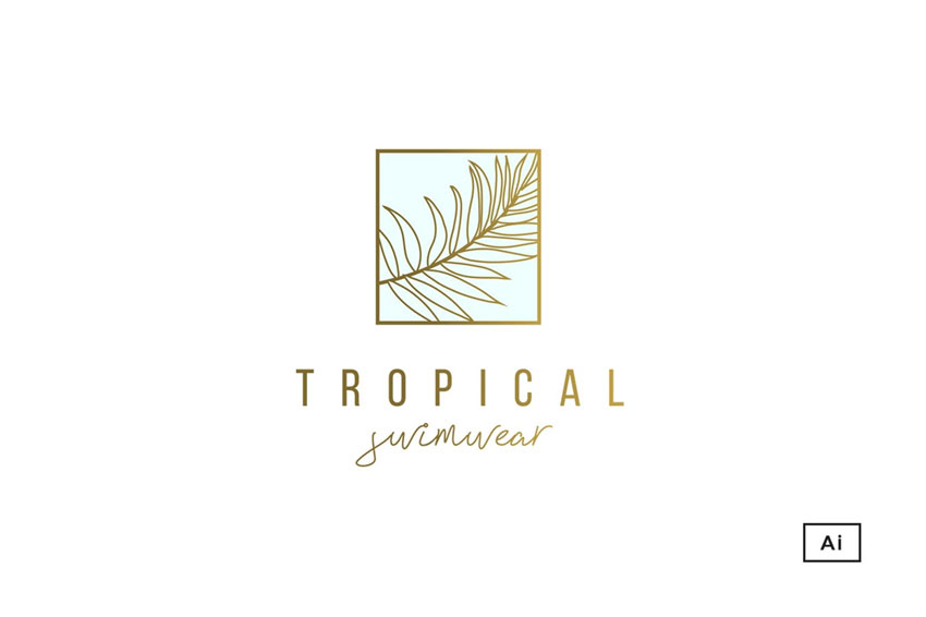 Tropical Palm Logo Template