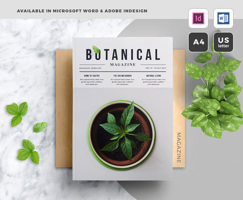 Botanical Magazine Template