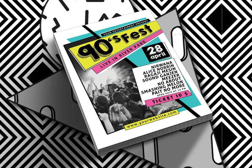 90s Music Festival Flyer